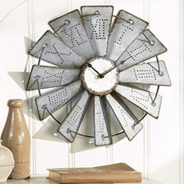Large Windmill Wall Clock